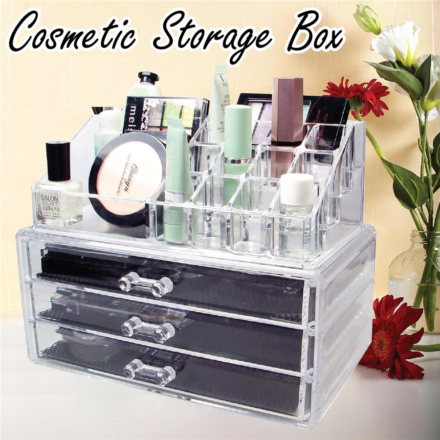 Cosmetic Make up Beauty Container Storage Arrange Organizer Case Box