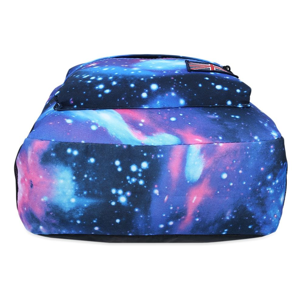 COSMOS PRINT UNISEX SCHOOL SHOPPING TRAVEL  BACKPACK (BLUE)