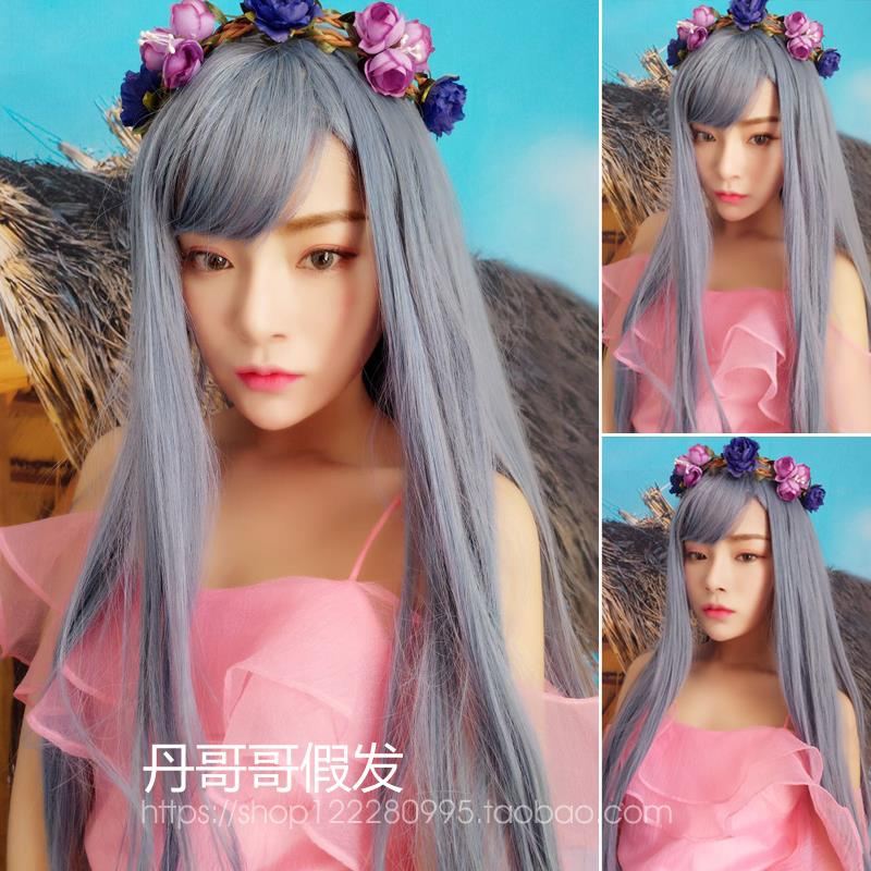 Cosplay Blue grey wig BG3/  ready stock/ rambut palsu