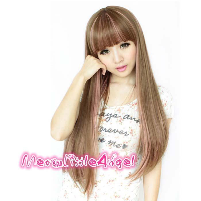 Cosplay hair wig CV7/rambut palsu/ ready stock/mix pink