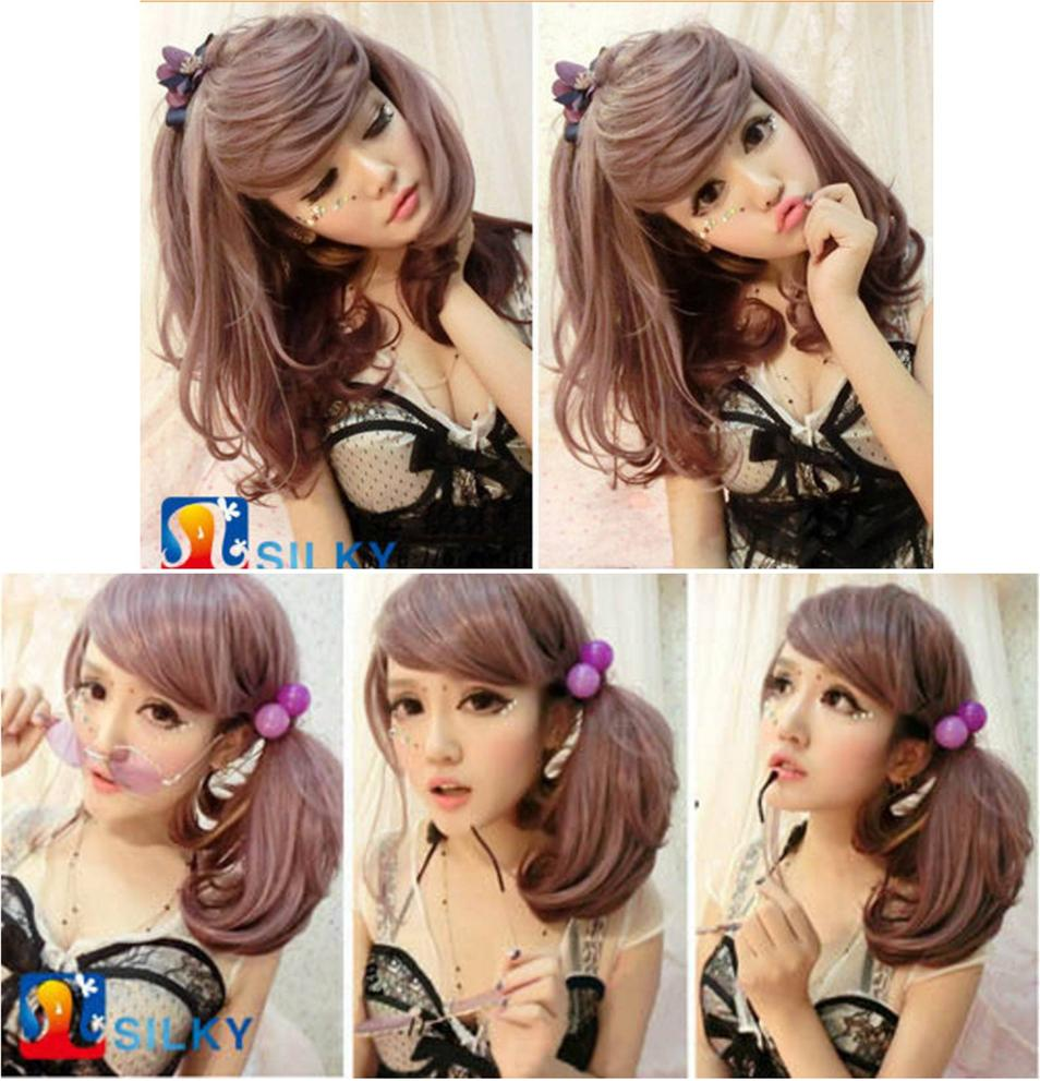 Cosplay hair wig OG457/ready stock/ rambut palsu/yam purple