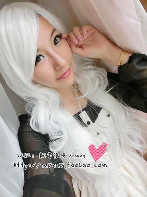 Cosplay long curve/Pure White 80cm/ready stock/rambut palsu