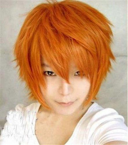 Cosplay men wig1/ orange/rambut palsu/ ready stock
