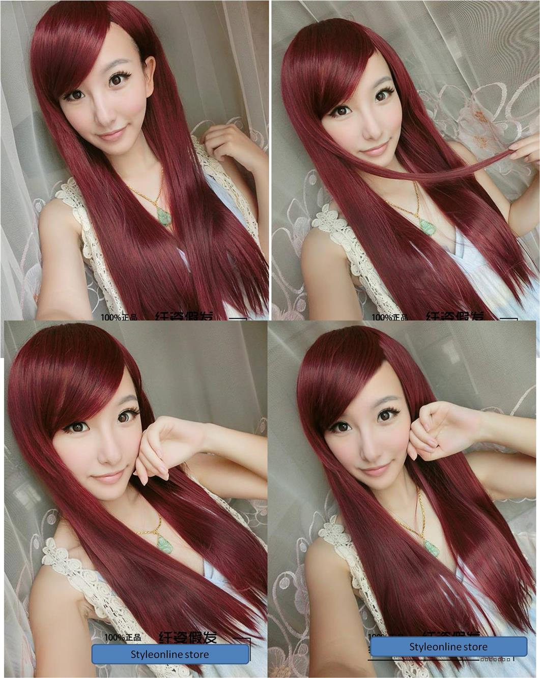 Cosplay red hair wig y1/ ready stock/ rambut palsu/promo