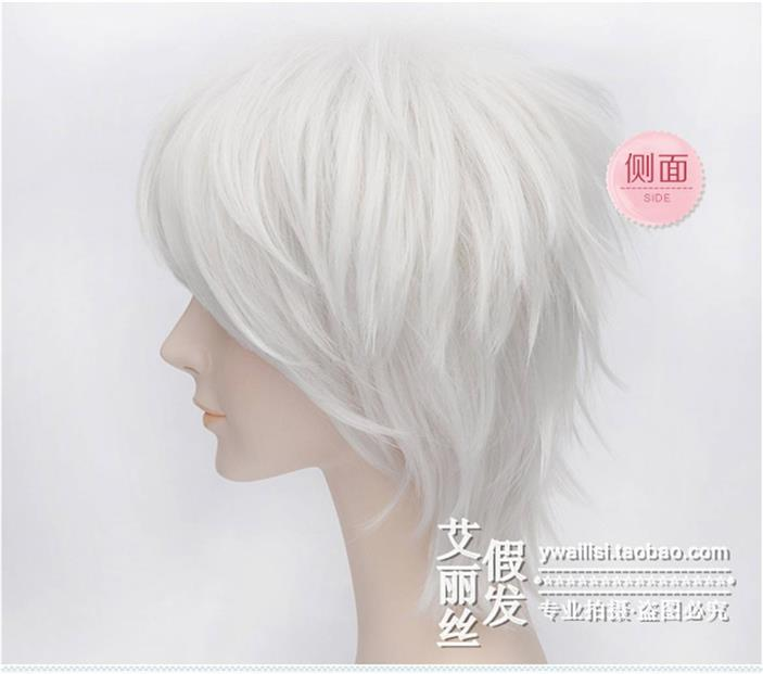 Cosplay white wig EQ8/rambut palsu/ ready stock