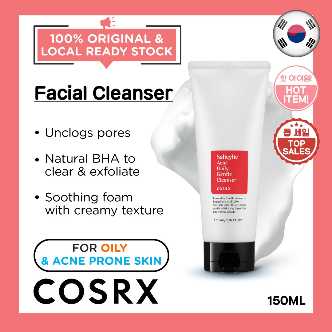 COSRX Salicylic Acid Daily Gentle Cleanser150ml Deep Cleansing Calming
