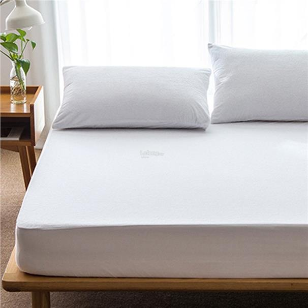 Cotton Matress Cover Solid Color Waterproof Dust-Proof Mattress Protec