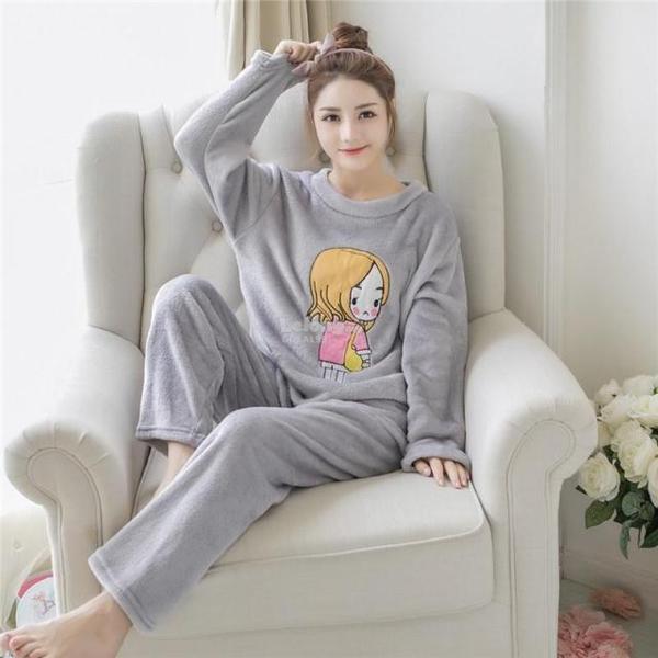 Cotton pajamas women s winter cute cartoon casual Korean. ‹ › 6fd0544f18be