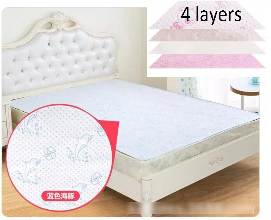 Cotton Waterproof Mattress Bedsheets 4 Layers (2 Weeks Delivery)