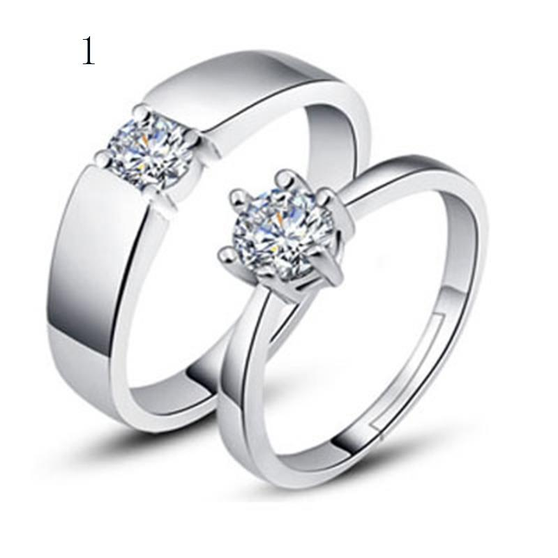 couple wedding grooved engagement polished rings set zircon diamond qq products high