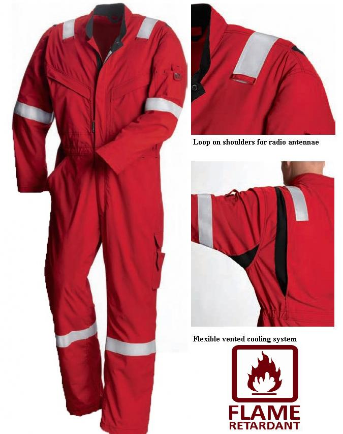 Coverall Red Wing Flashguard Flame Retardant FR Anti Static AS 61811
