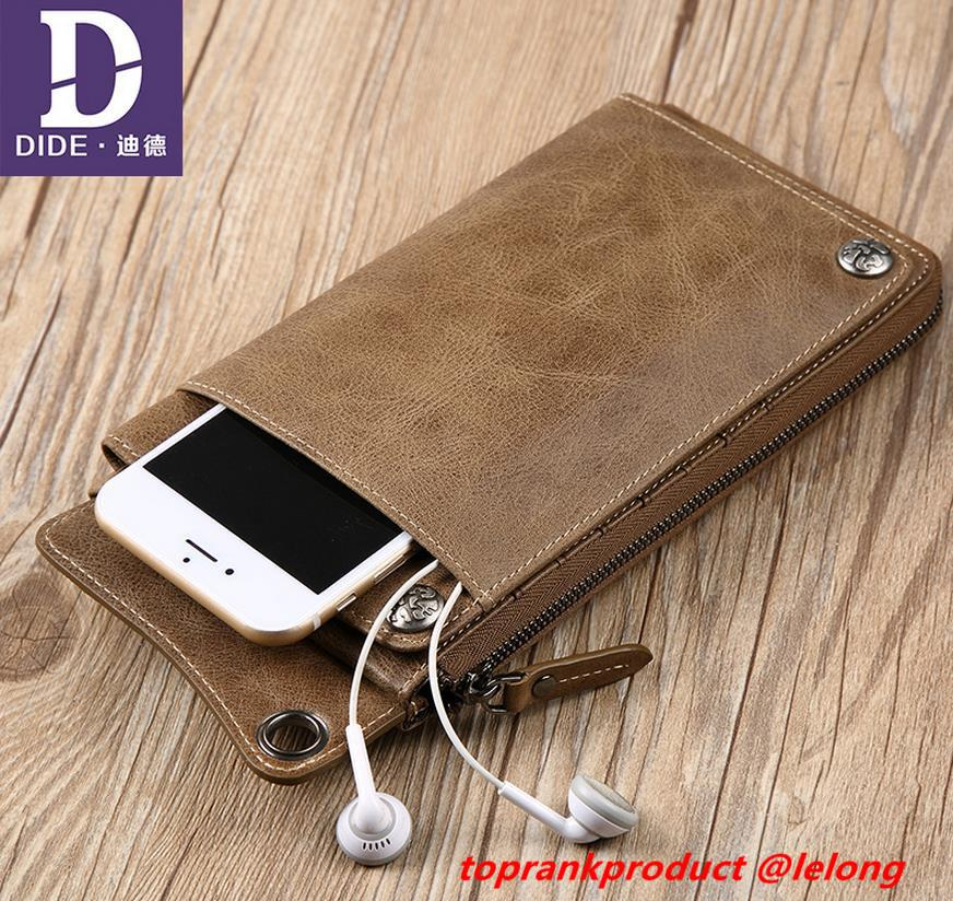 Cow Leather Apple iPhone 6 6S 7 Plus Wallet Card Slot Case Casing Bag