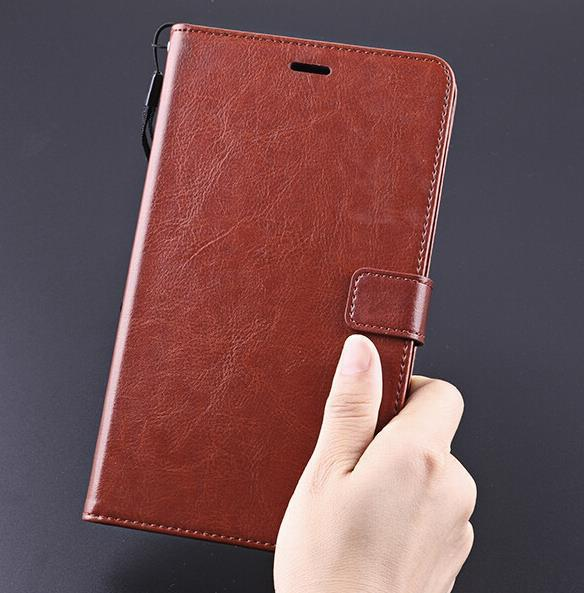 Cow Leather Case Lenovo PB1-750 Phab Wallet Cover Flip Casing