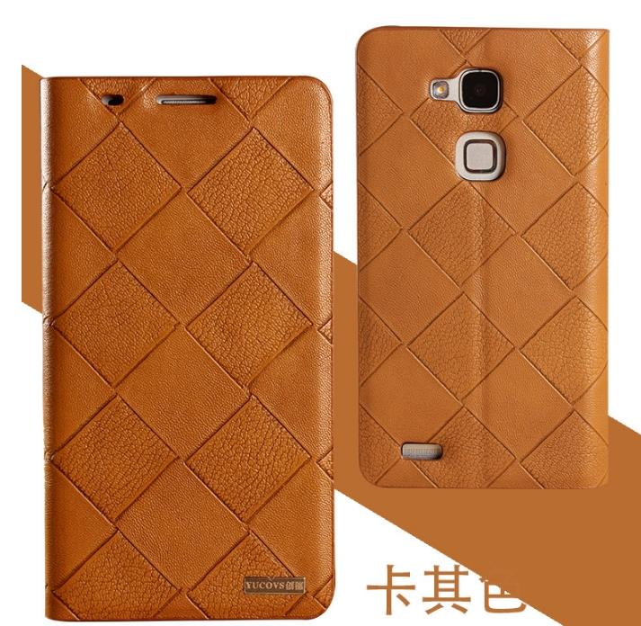 Cow Leather Huawei Ascend Mate 7 Flip Smart Case Cover + Free SP
