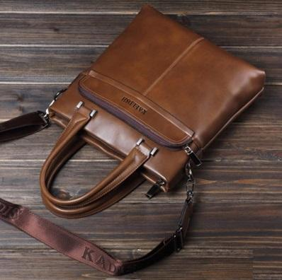 Cow Leather Man Office Use Sling Bag 31 29 6cm