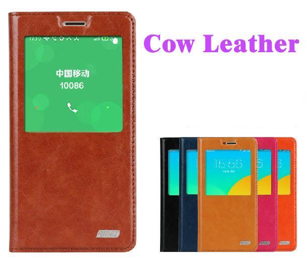 Cow Leather Meizu M1 Note Flip Smart Case Cover Casing + Free SP