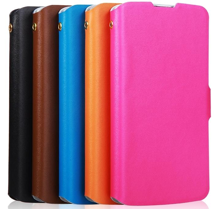 Cow Leather Nokia Lumia 1320 Flip Case Cover + Free Screen Protector