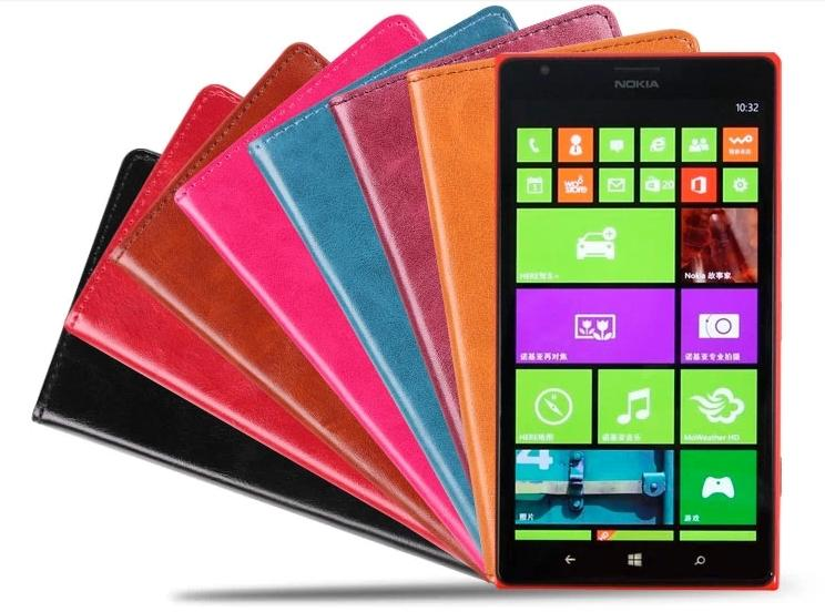 Cow Leather Nokia Lumia 929 930 Flip Case Cover +Free Screen Protector