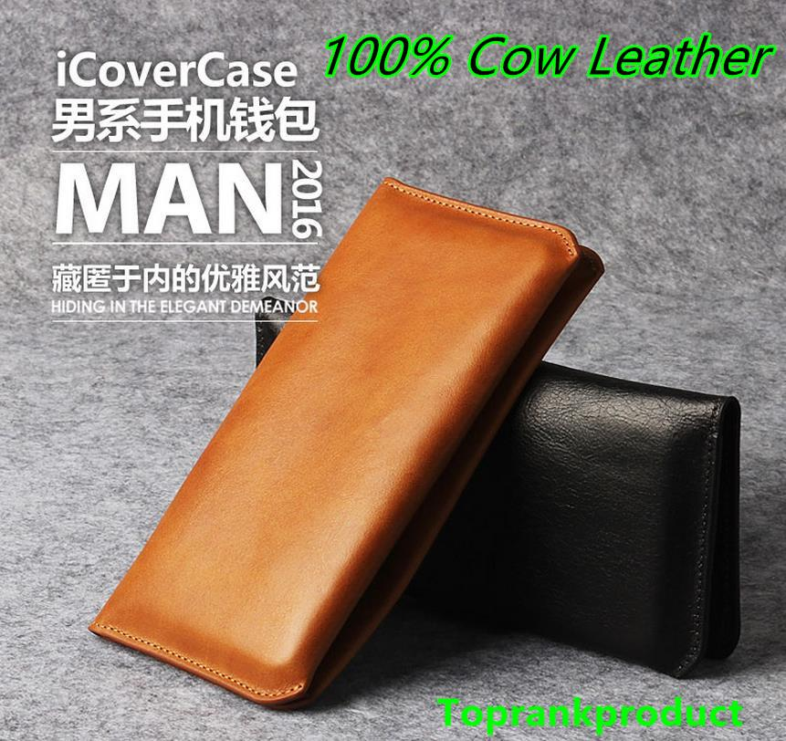 Cow Leather Samsung Galaxy A9 / Pro 2016 Wallet Case Cover Casing
