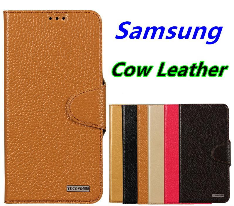 Cow Leather Samsung Galaxy S7 Edge Flip Case Cover Casing + Free Gift