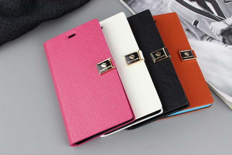 free shipping d10aa 4416c Cow Leather Xiaomi MI-3 mi3 Flip Case Cover + Free Screen Protector
