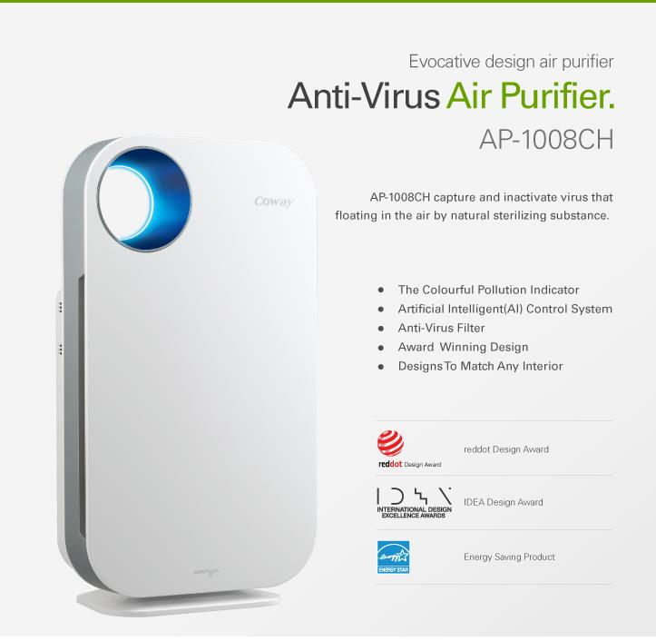 Coway Air Purifier DOLOMITIES AP-1008CH (with Anti-Virus Filter)
