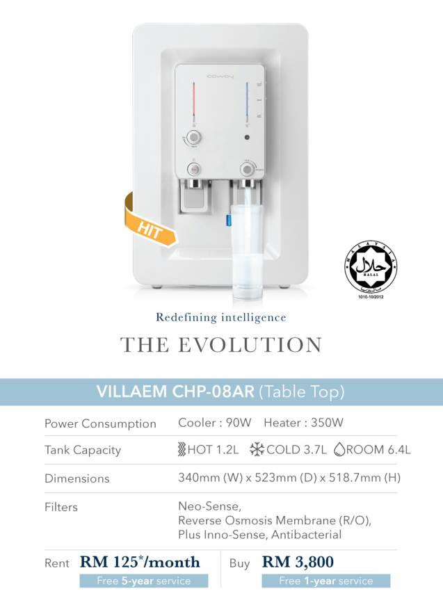 COWAY WATER PURIFIER/ FILTER VILLAEM (RM125/MONTH 5YEARS SERVICES)