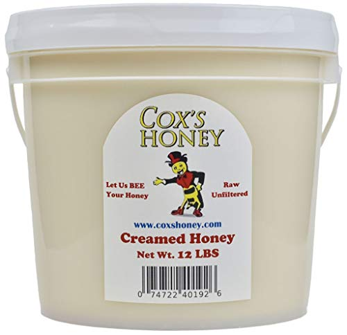 Cox's Honey - Bulk Creamed Whipped Honey Raw Unfiltered | 100% Pure Clover Del