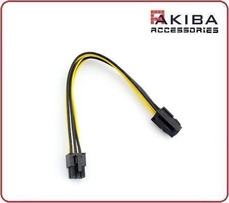 CPU 4pin to PCI-E Video Graphic Card 6pin Power Cable