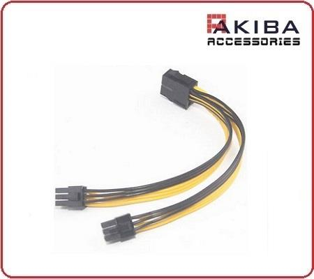 CPU 8p Female Split to 2x PCIE 6pin Male Power Cable for Video Card