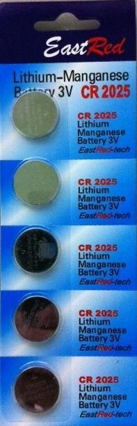 CR2025 3V Button Cell Batteries ( Pack of 5 Pcs ) for Watches,PDA,etc