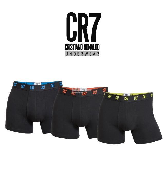 CR7 Basic 3-Pack Microfiber Mens Trunk /black