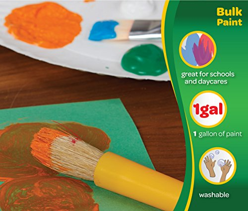 Crayola Washable Paint, Orange Paint, Classroom Supplies, 1 Gallon