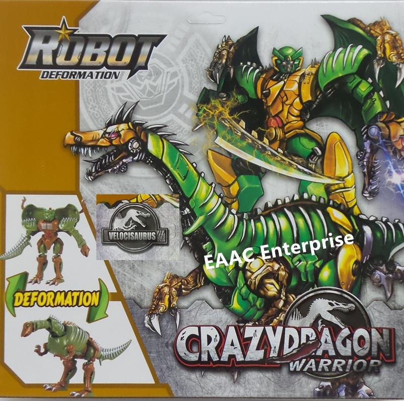 Crazy Dragon Warrior Dinosaur Velocisaurus Transformer Tobot Robot Br