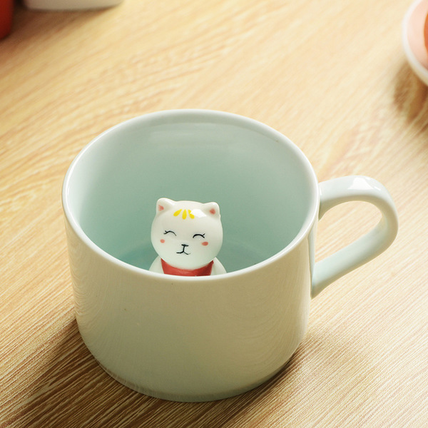 Creative 3D Stereoscopic Ceramic Animal cup mug, Coffee mug Tea mug Lu