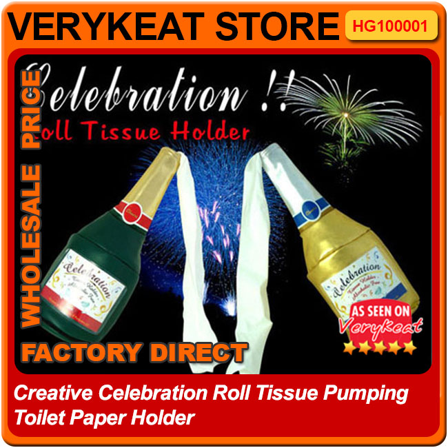 Creative Celebration Roll Tissue Pumping Toilet Paper Holder