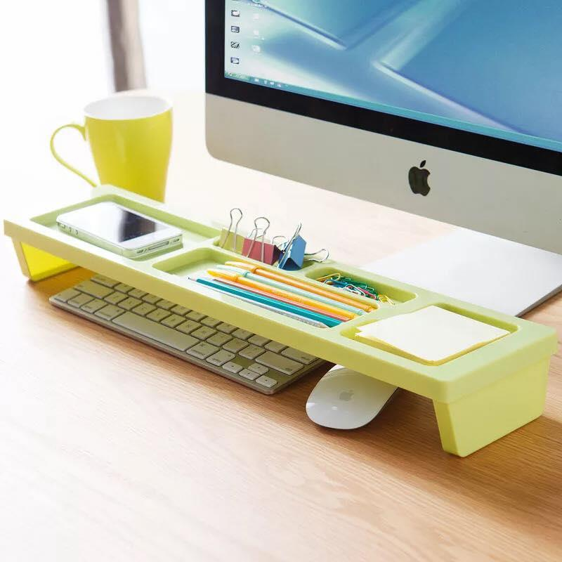 Creative Colorful Computer Desktop Keyboard Shelf Space Storage Rack