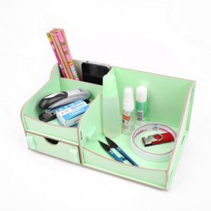 Creative DIY Desktop with Drawer Wood Storage Box-M006