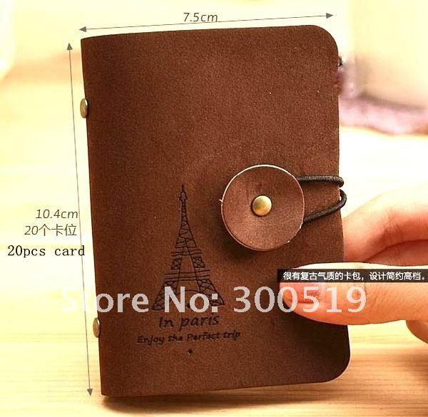 New creative fashion Korea velour leather style bank credit Card holde