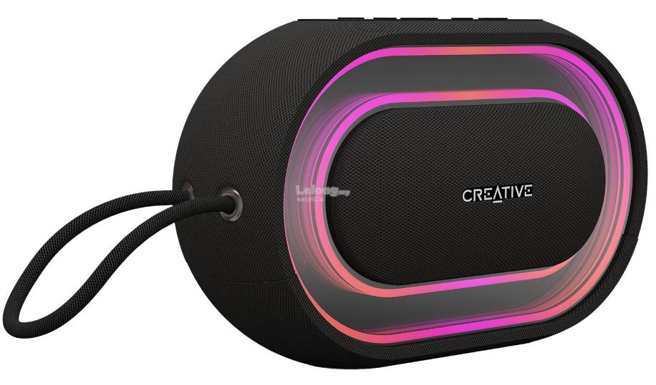 CREATIVE HALO BLUETOOTH SPEAKER WITH PROGRAMMABLE LIGHTSHOW