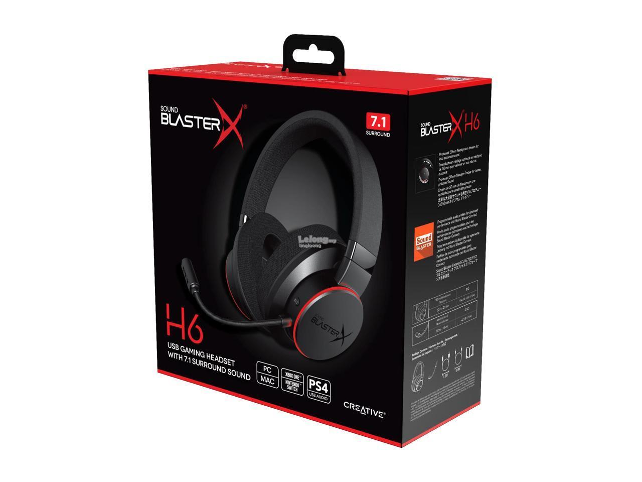 # CREATIVE Sound BlasterX H6 - 7.1 USB Gaming Headset #