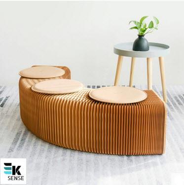 Magnificent Creative Space Saving Paper Sofa Stools P283008 Inzonedesignstudio Interior Chair Design Inzonedesignstudiocom