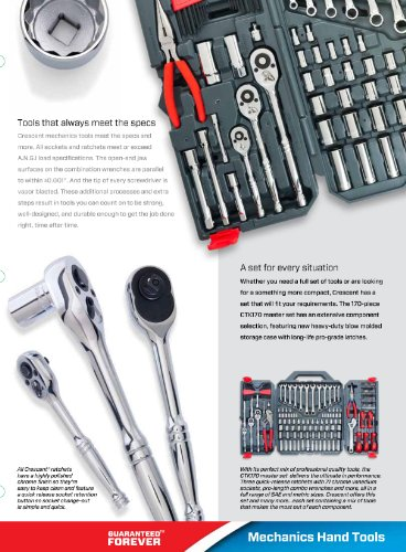 Crescent 170 Pc. General Purpose Tool Set - Closed Case - CTK170CMP2/ Shipping