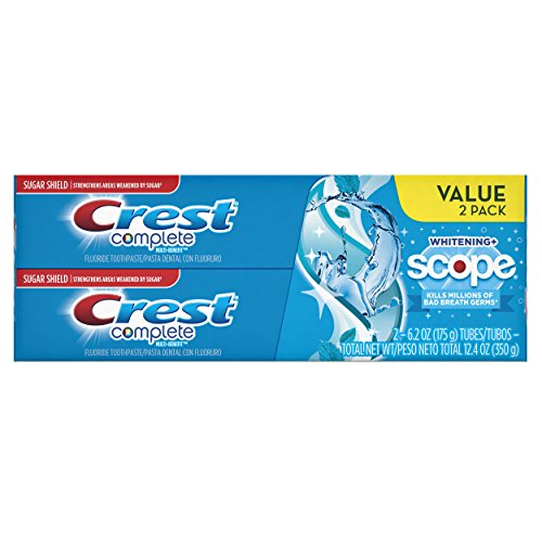 Crest Whitening plus Scope Toothpaste - 6.2 oz - Cool Peppermint - 2 pk