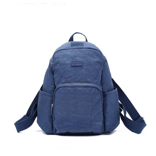 Crinkled Nylon Backpack Women Bag Beg Tangan