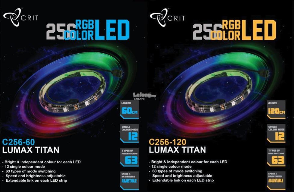Crit Lumax Titan C256 120 RGB LED Strip Gaming PC Desktop PC RGB Strip