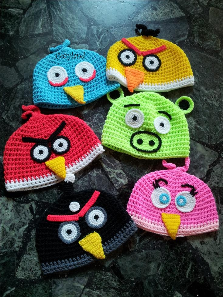 angry birds amigurumi finger puppets | H. Philip Zayco | Flickr | 979x734