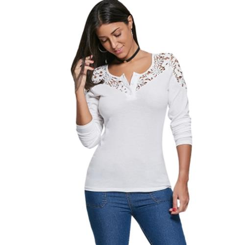 Crochet Lace Insert Long Sleeve Top End 832020 348 Pm