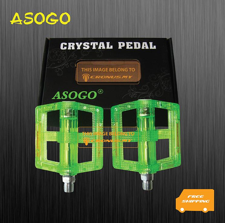 [Cronus.my] Asogo Bicycle Colourful Crystal 9/16' Pedal | Accessories