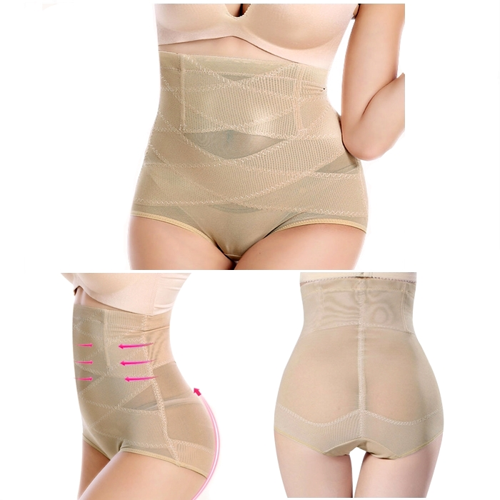 Cross Hollow Out Mesh Underwear Modeling Strap Belt Slimming Corset Sp